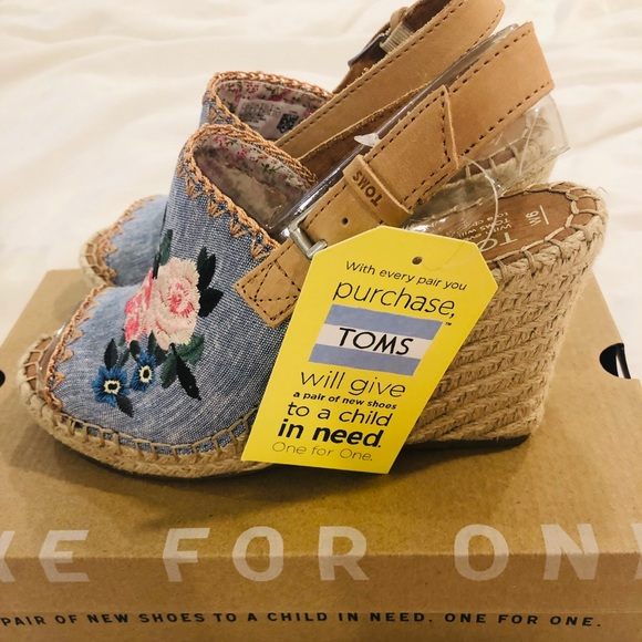ff0cbb96b7 Toms Shoes | Monica Wedges | Poshmark